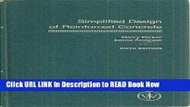 Get the Book Simplified Design of Reinforced Concrete (Parker/Ambrose Series of Simplified Design