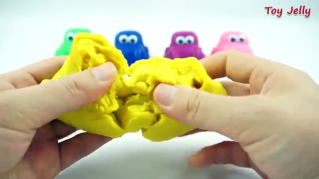 Fun Creative for Kids with Play Dough Cars Surprise Toys and Cookie Cutters