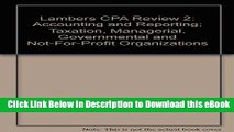DOWNLOAD Lambers CPA Review 2: Accounting and Reporting; Taxation, Managerial, Governmental and