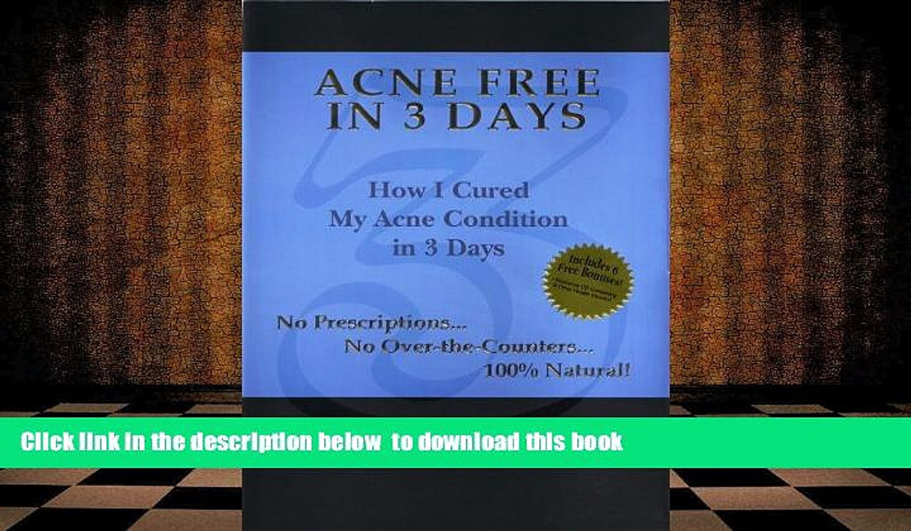 [Download] Acne Free in 3 Days: How I Cured My Acne Condition in 3 Days  Chris Gibson For Ipad