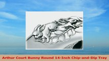 Arthur Court Bunny Round 14Inch ChipandDip Tray f0ee0eef