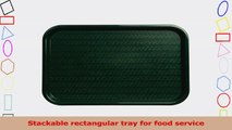 Carlisle CT121608 Polypropylene Cafe Standard Tray 1631 x 1206 Forest Green Case of 24 83fbe746