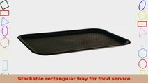 Carlisle CT12168103 Polypropylene Cafe Standard Tray 1631 x 1206 Black Case of 4 303d7a8d