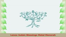 Lenox Judaic Blessings Metal Menorah 54c38e9c