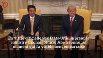 Quand Donald Trump broye la main du premier ministre japonais Shinzō Abe