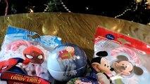 сюрприз яйца распаковка Рождественский сюрприз и леденцы Человек-паук и Мики мыши ★ ★ SFE