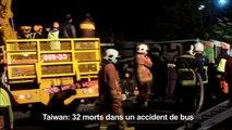 Taiwan: 32 morts dans un accident de bus
