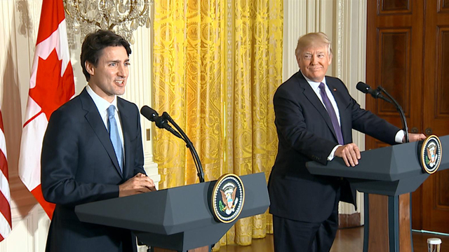 President Trump, Canadian PM Justin Trudeau hold joint news conference