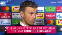 Luis Enrique prêt à frapper un journaliste après le match PSG-Barcelone