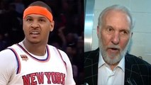 """Carmelo Anthony TAKES OVER, Yells """"I Want It!"""" - Coach Pop Explains How Basketball Works"""