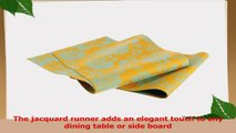 Mahogany Lotus Jacquard Fused Reversible Table Runner 13 by 72Inch Turquoise on Yellow d6d9a026
