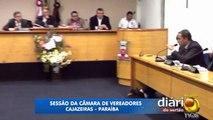 Vereadores Alysson Lira entra em discussão com Rivelino Martins e Marcos Barros Barros durante sessão da Câmara de Verea