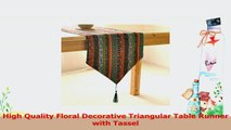 Aothpher Ornate Chevron Multicolor Stripes Pattern Washable Cotton Table Runner with ca38b949