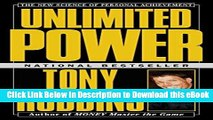 DOWNLOAD Unlimited Power : The New Science Of Personal Achievement Mobi