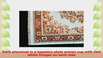 Set of 2 Rug Placemats  Woven Carpet Table Mats  Dining Table Decor Oriental Style Place 3ebd7ae0