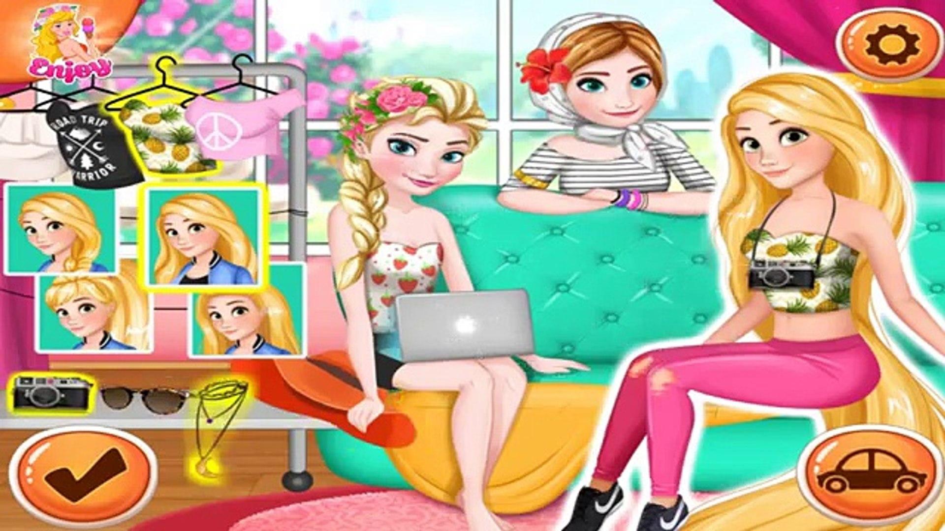 Disney Princess Эльза Анна и Рапунцель Summer Road Trip одеваются игры для девочек