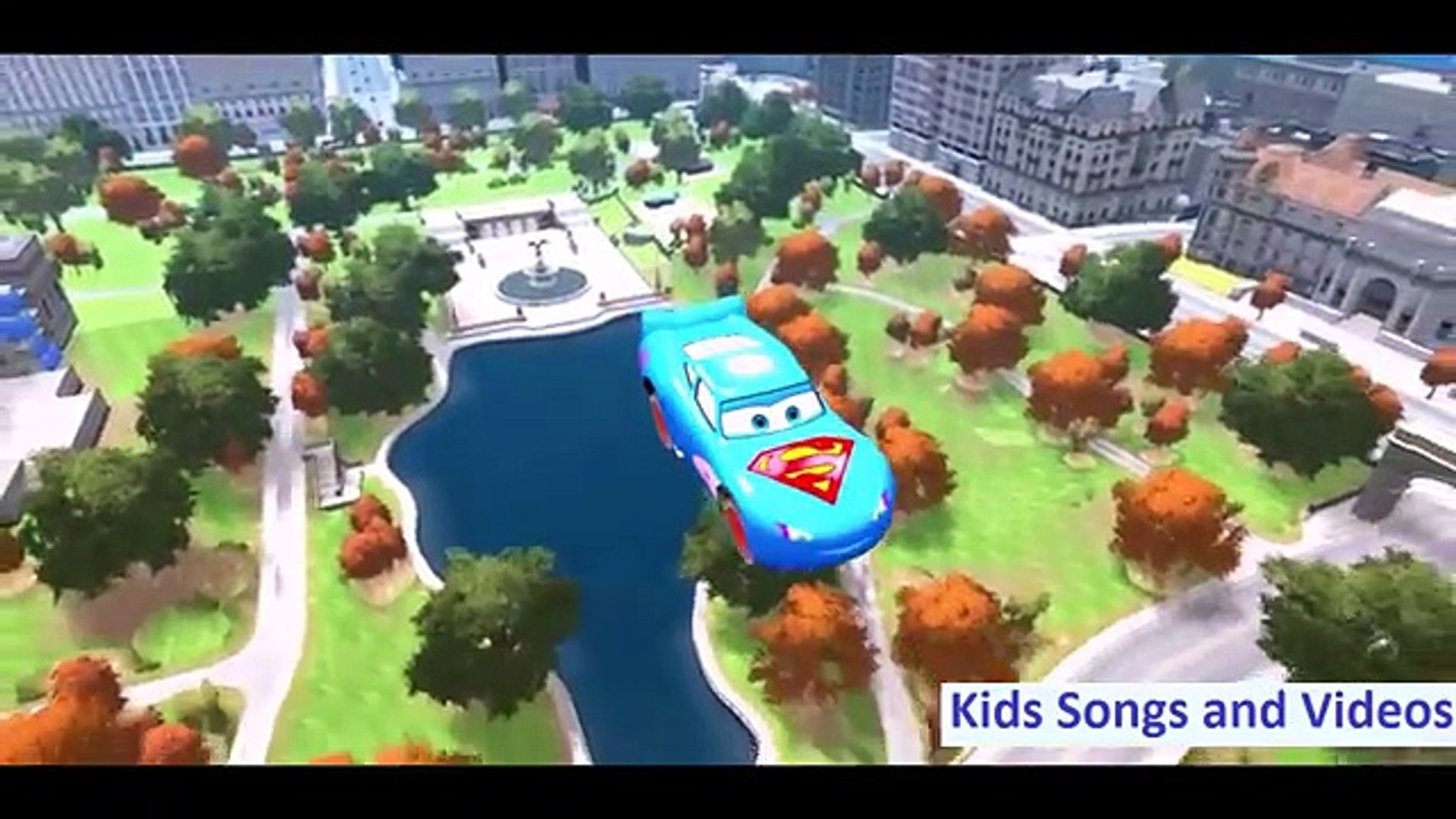Thor with SpiderMan Dancing and Traveling on the Car - Cowboy Travel on the Highway - Kids Animation