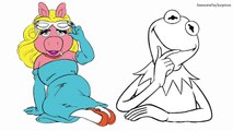 Miss Piggy and Kermit the Frog Muppets Coloring Page! Fun Coloring Activity! #