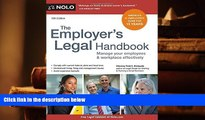 Kindle eBooks  Employer s Legal Handbook, The: Manage Your Employees   Workplace Effectively