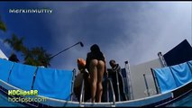 Brazilian TV Show - Girl dropped from excavator into a pool (part 2)
