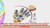 Highest Rated Oven Gloves Heat resistant l Best Oven Gloves with Fingers for High Heat e79cecb3