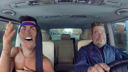 Carpool Karaoké Cristiano Ronaldo - The Guignols - CANAL+