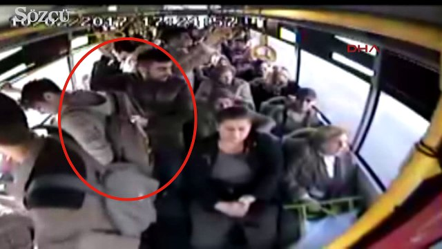 Karı-koca halk otobüsünde cep telefonu çaldı
