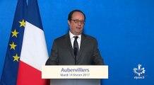 """""""La Seine-Saint-Denis est un département où des chances existent et nous devons faire en sorte qu'elles puissent être saisies"""" François Hollande à Aubervilliers"""