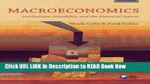 [PDF] Macroeconomics: Institutions, Instability, and the Financial System FULL eBook