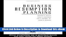 EPUB Download Business Resumption Planning, Second Supplement Online PDF
