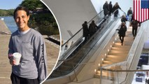 Woman pretending to fly falls off Oculus escalator and dies