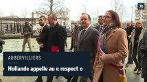 François Hollande à Aubervilliers : «Pas de vie en commun possible sans respect mutuel entre la police et les jeunes »