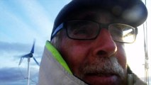 D100 : Rich Wilson's conditions as he is at the latitude of Morrocco / Vendée Globe