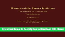 BEST PDF Ramesside Inscriptions, Ramesses II, Royal Inscriptions: Translated and Annotated,