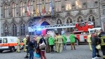 Les pompiers de la zone Mons Centre manifestent à Mons