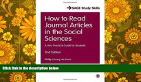Audiobook  How to Read Journal Articles in the Social Sciences: A Very Practical Guide for