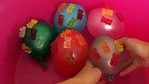 Mega Gummy bear Water Balloons Finger Family | Learn Colors Balloon Wet Nursery Rhymes for Kids