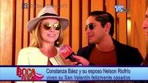 Constanza Báez y Nelson Riofró viven su San Valentín felizmente casados