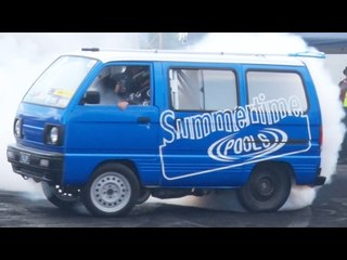 TINY Van Does MASSIVE Skids! Almost TIPS OVER!?