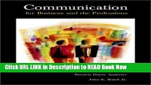 [Popular Books] Communication for Business and the Professions, 7th edition Full Online