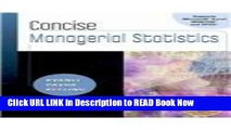 [Popular Books] Concise Managerial Statistics (Book Only) Full Online