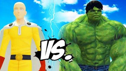 THE INCREDIBLE HULK VS SAITAMA (One-Punch Man)