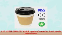 110 Disposable HotCold Paper Cups With Travel Lids And Sleeves 10oz White Coffee Tea Cups 444e83cf