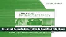 [Read Book] Study Guide for Miller/Cross  The Legal Environment Today: Business In Its Ethical,
