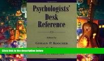 Audiobook  Psychologists  Desk Reference  Trial Ebook
