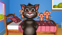 Five Little Monkeys Jumping On The Bed Nursery Rhymes   Tom Cat Animation Rhymes for Children