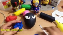 Play Doh Venom Surprise Egg. Venom Toys 2016 Surprise Eggs Captain America Spiderman Venom