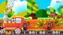 TRAIN FOR KIDS - The Learning Trains Cartoon - Cartoons about Trains & Cars for children