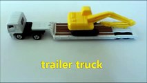 Learning Trucks starting with letter T for kids with tomica トミカ