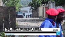 Plusieurs morts dans les heurts entre forces de l'ordre et adeptes de la secte Bundu Dia KONGO À KINSHASA